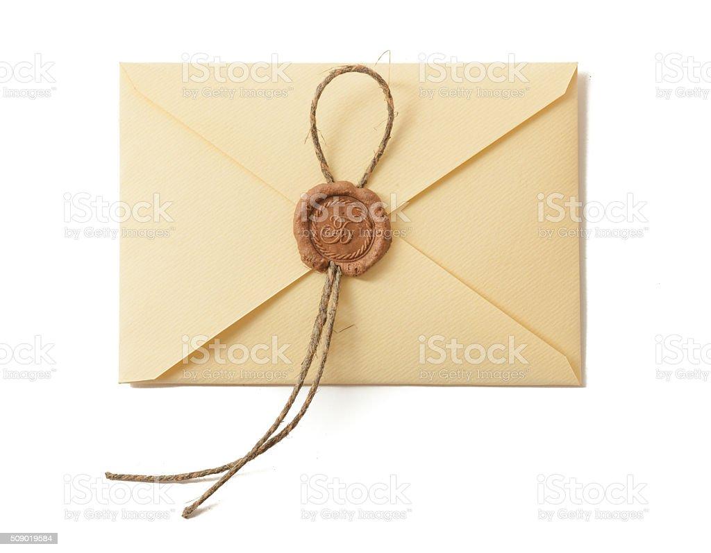 Envelope with seal stok fotoğrafı