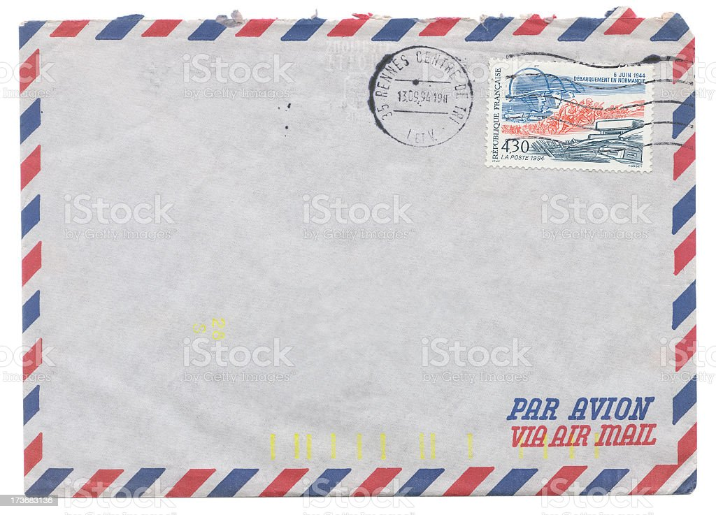 Envelope with ww2 stamp royalty-free stock photo