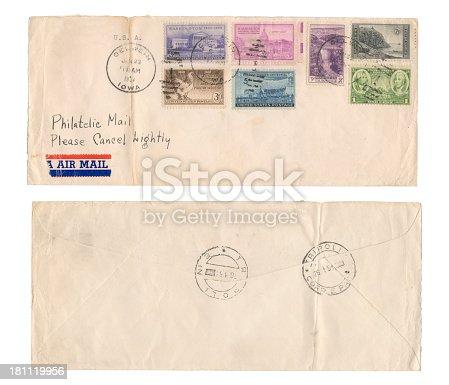 USA air mail envelope year 1951.