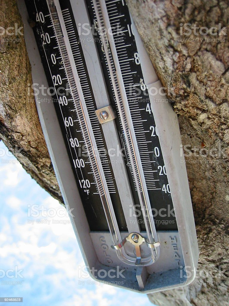 Enveloped thermometer royalty-free stock photo