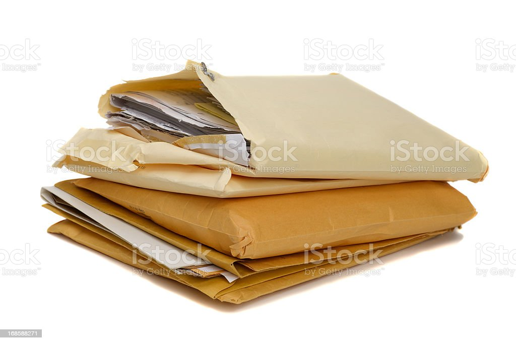Envelopes Filled with Printed Files royalty-free stock photo