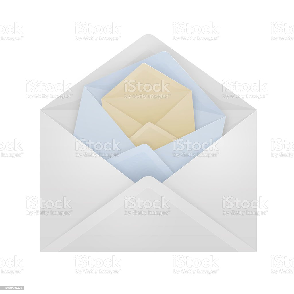 Envelopes in an envelope. royalty-free stock photo