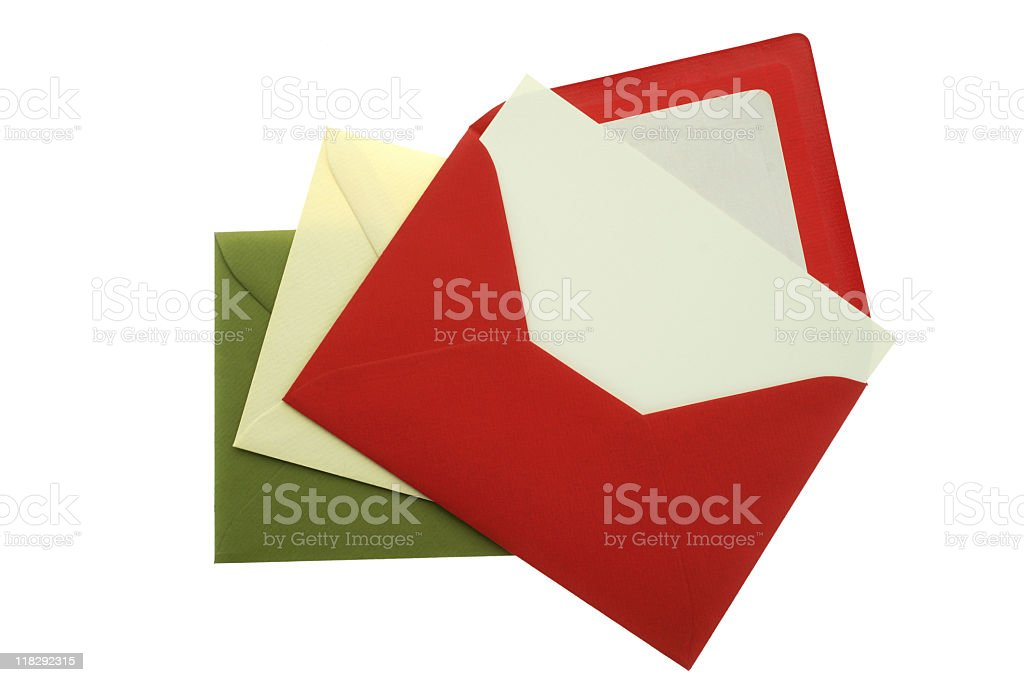 Envelopes with card royalty-free stock photo