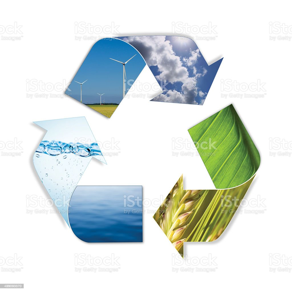Environment arrows isolated on white with clipping path stock photo