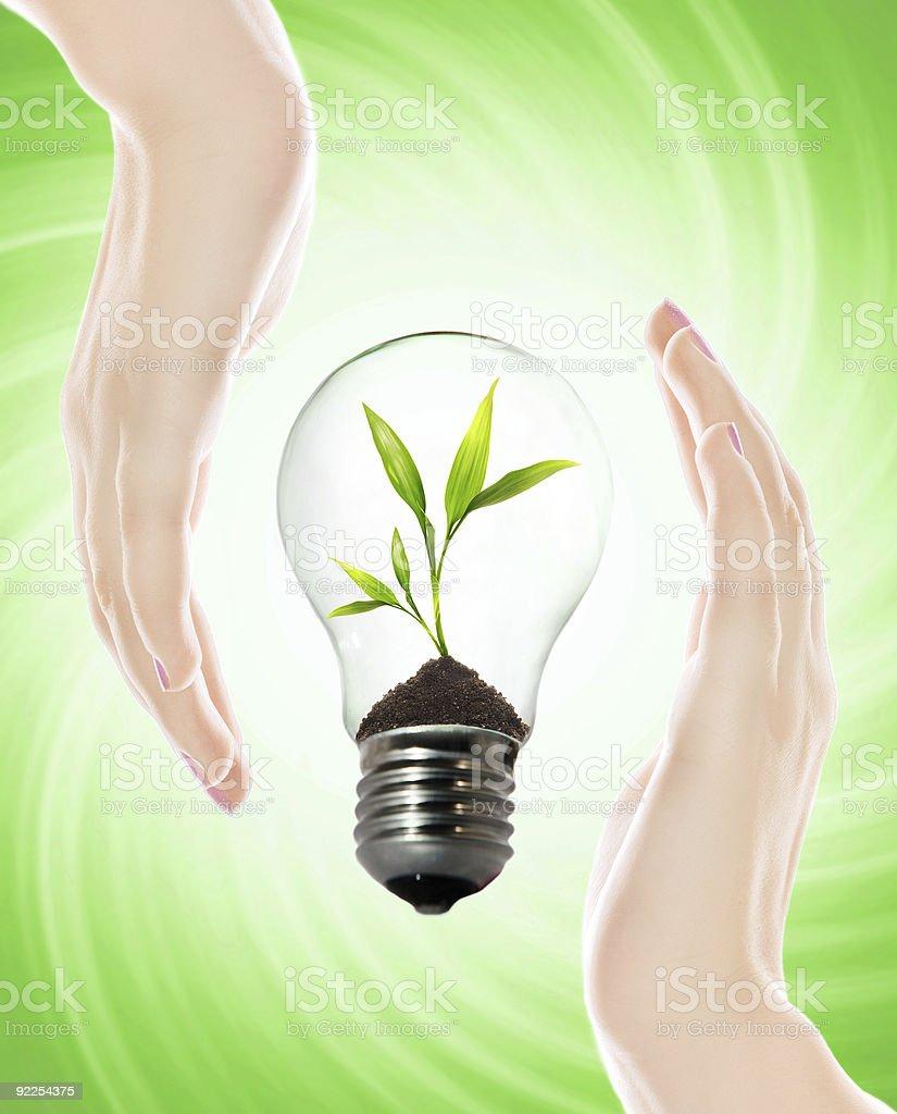 Environment friendly bulb royalty-free stock photo