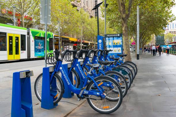 Environment friendly, eco transportation in Melbourne, Victoria stock photo