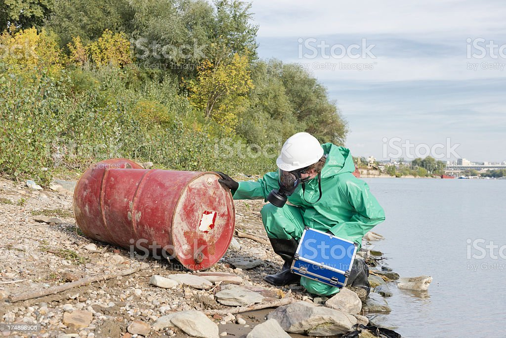 Environment inspector in the field stock photo