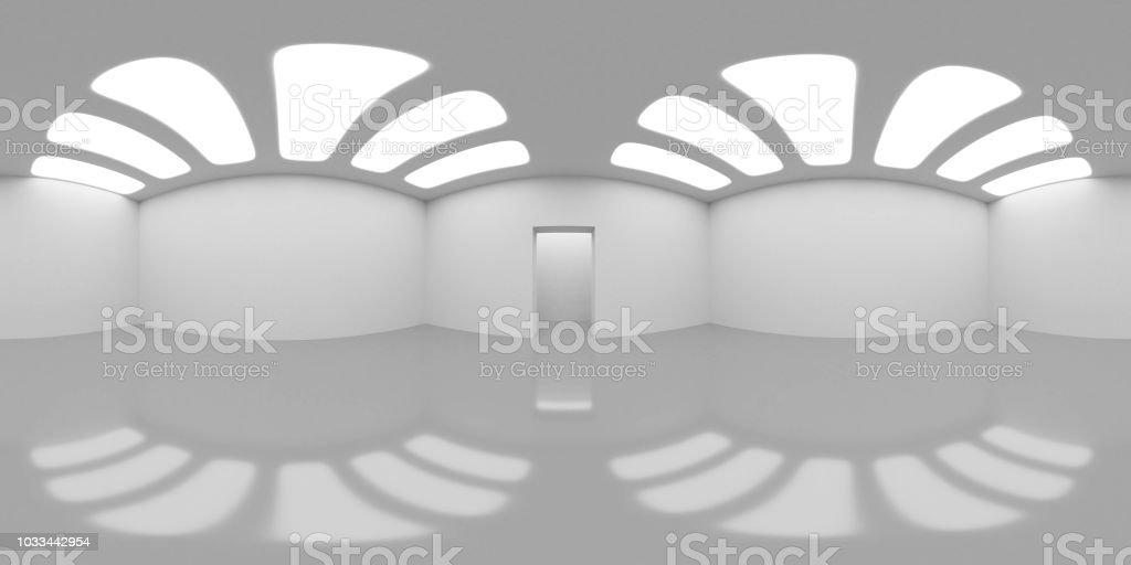 Mapa de entorno HDRI, fondo abstracto panorama esférico, fuente de luz interior de renderizado (render 3d) - foto de stock
