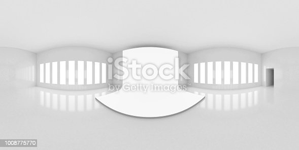 istock HDRI environment map, abstract spherical panorama background, interior with stage, white light source rendering (3d rendering) 1008775770