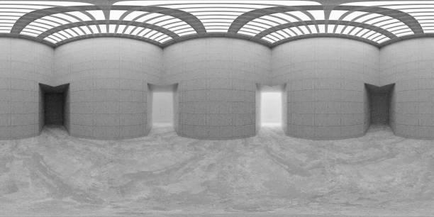 Carte d'environnement HDRI, panorama sphérique abstrait fond équipés de sources lumineuses (rendu 3d d'équirectangulaire) - Photo