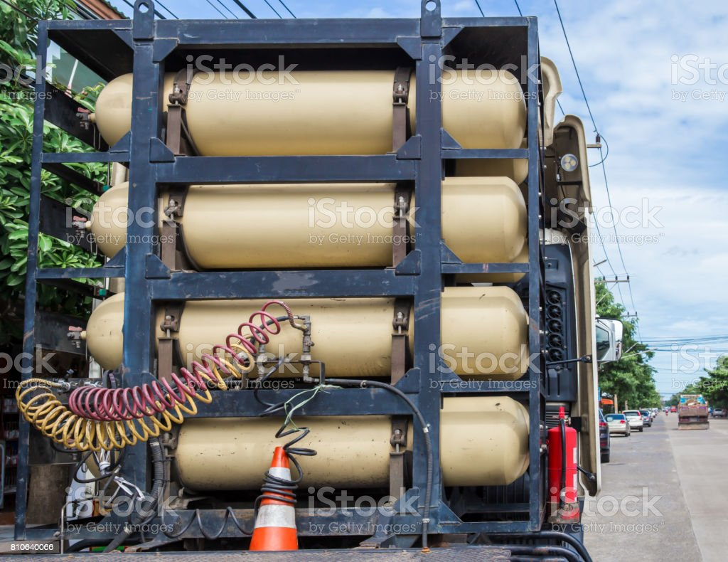 Environment, Pollution, Hydrogen, Transportation, Truck stock photo