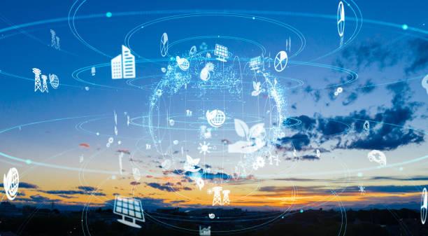 環境保護の概念。再生可能エネルギー。持続可能な開発目標sdgs. - sustainability ストックフォトと画像