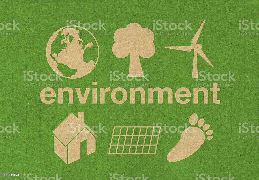 environment symbols stock photo