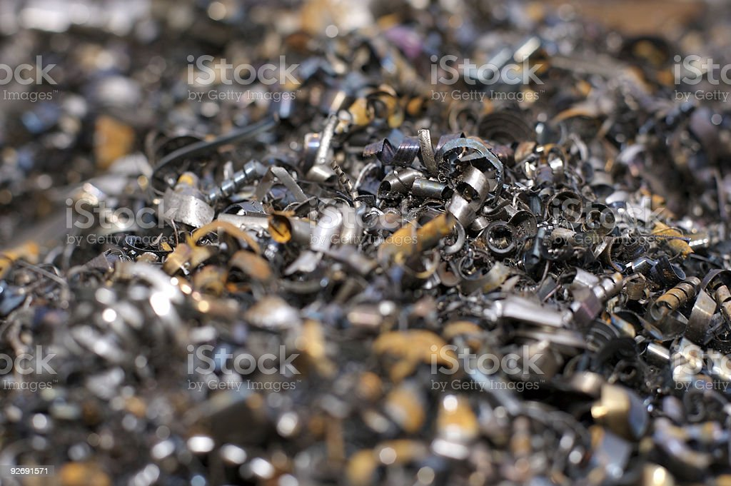 Environment - Waste Steel from Plant in Sheffield 2 royalty-free stock photo