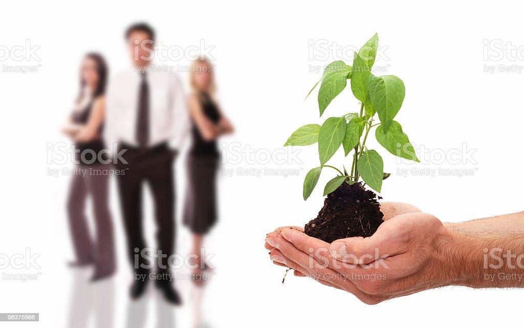 Environmental business team royalty-free stock photo