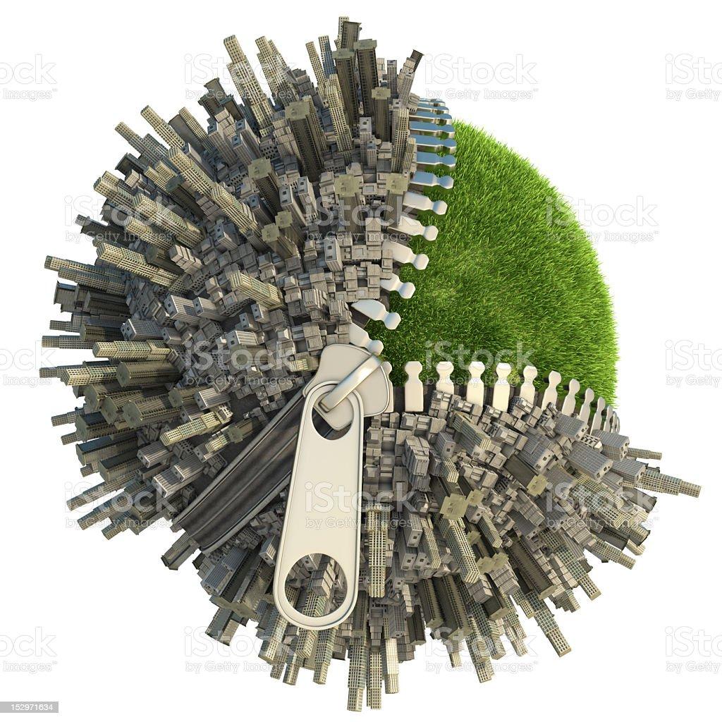 environmental change concept stock photo