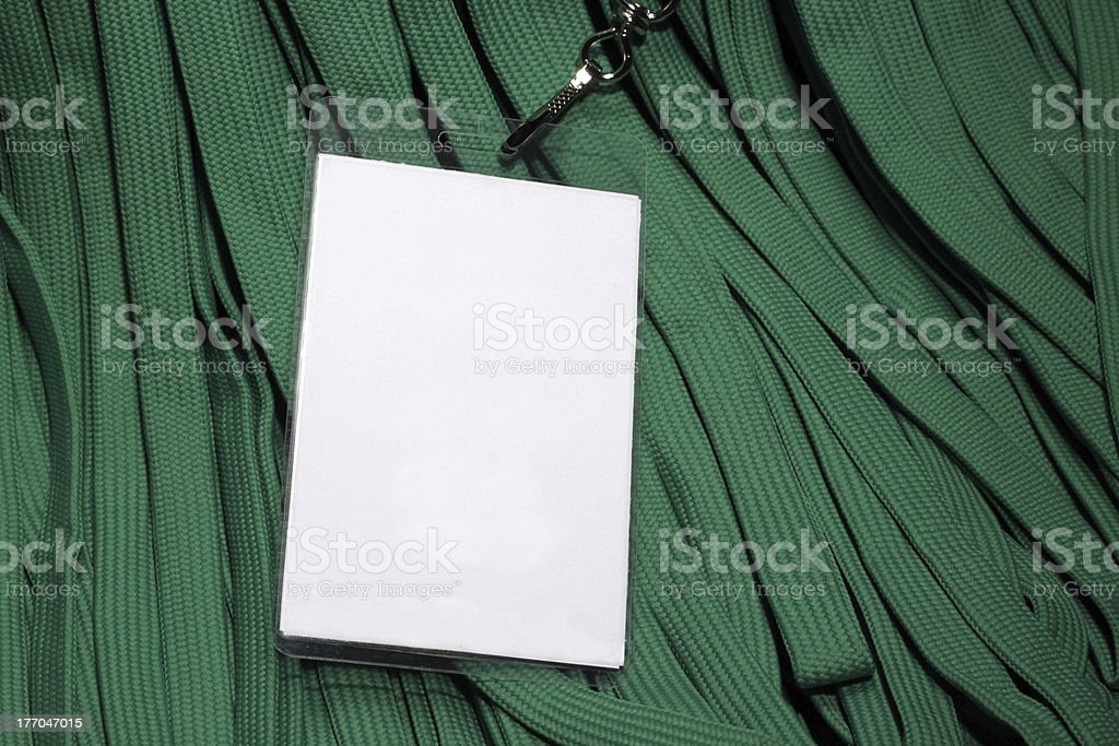 Environmental Conference Green Lanyard ID Card stock photo