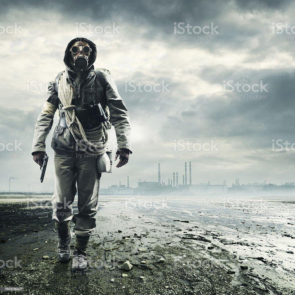 Environmental disaster stock photo