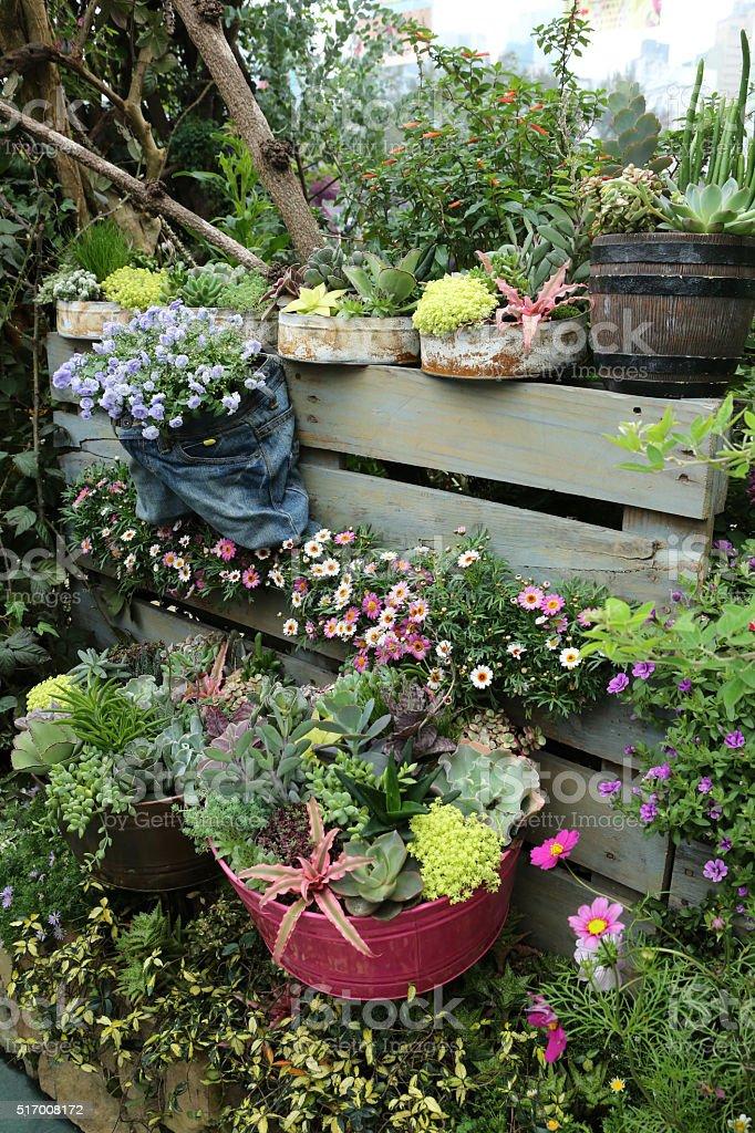 Environmental Friendly Flower Pot stock photo