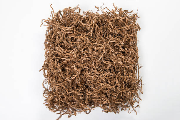 environmental friendly packing material - shredded paper stock photos and pictures