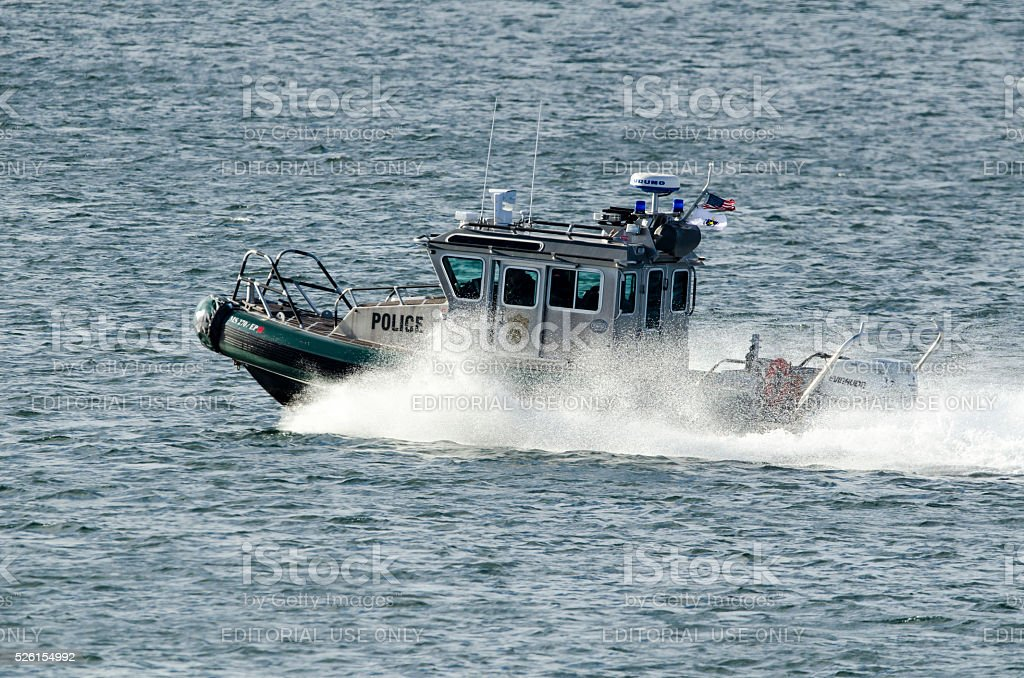 Environmental Police Patrol Boat stock photo