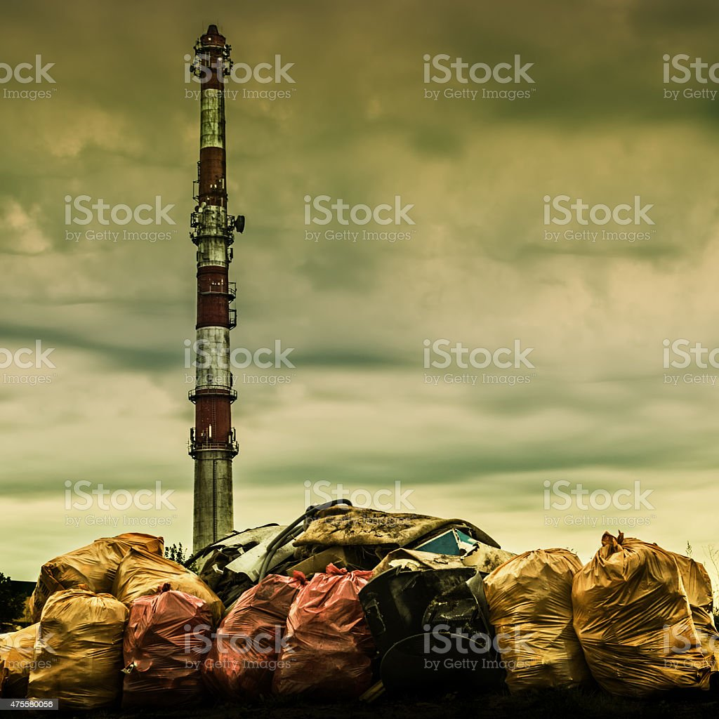 environmental pollution 3 stock photo