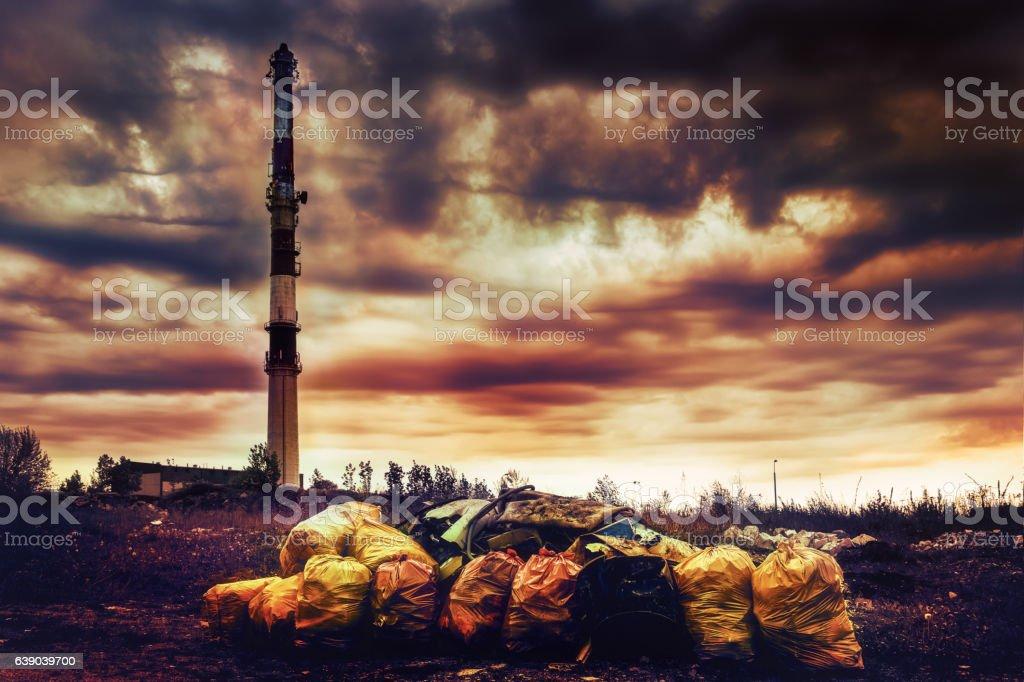 environmental pollution 5 stock photo