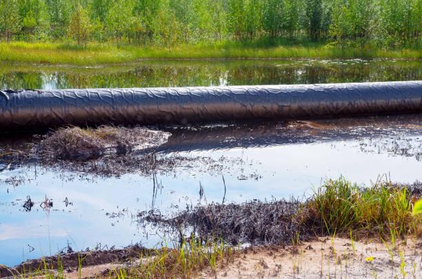 Environmental pollution. stock photo