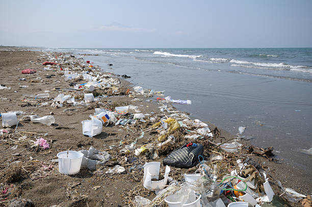 environmental pollution - ocean plastic stock pictures, royalty-free photos & images