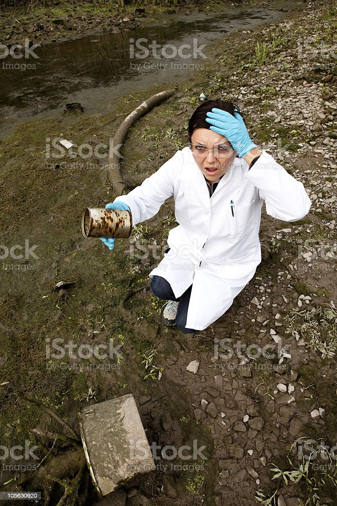 environmental pollution - research stock photo