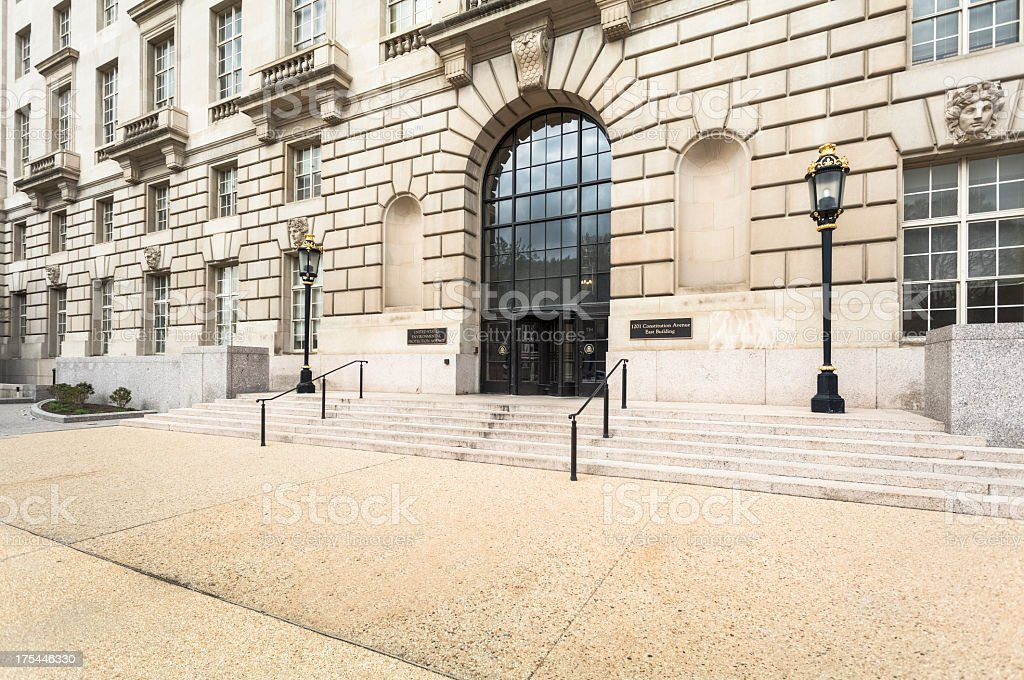 Environmental Protection Agency Building in Washington DC royalty-free stock photo