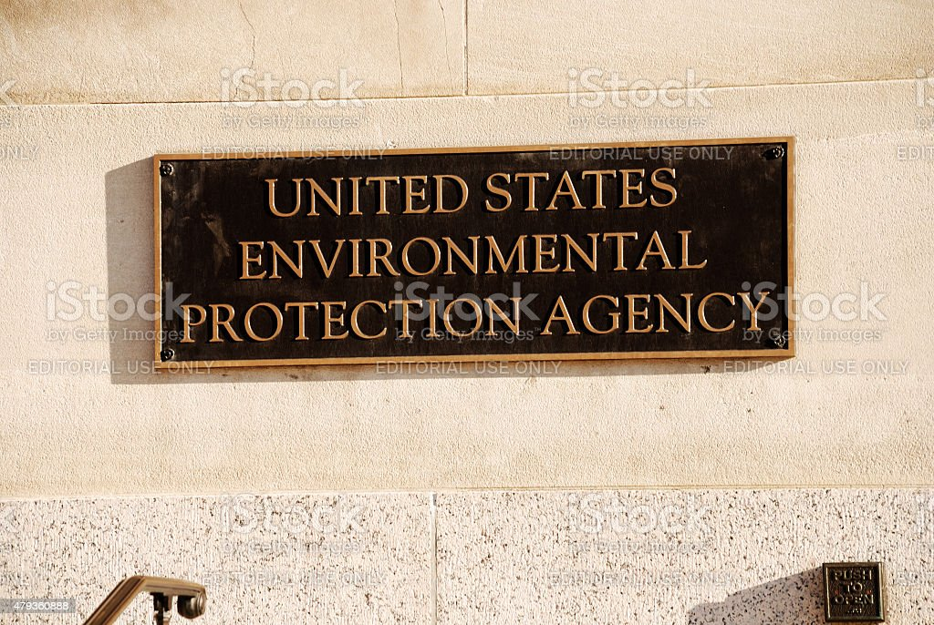 US Environmental Protection Agency office building sign. stock photo