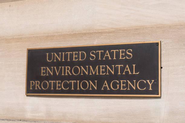 Environmental Protection Agency sign stock photo
