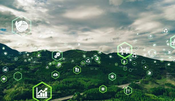 環境技術の概念。持続可能な開発目標。sdgs。 - sustainability ストックフォトと画像