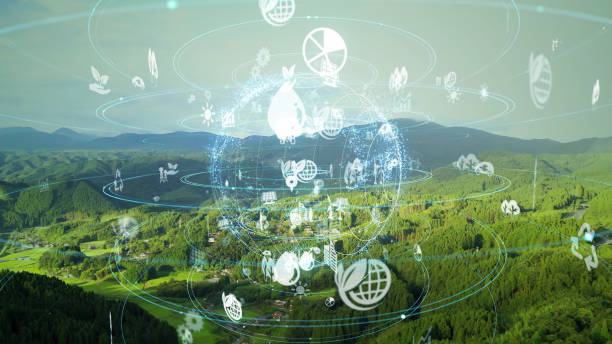 Environmental technology concept. Sustainable development goals. SDGs. stock photo