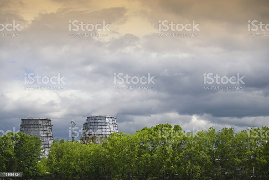 Environmental threat stock photo