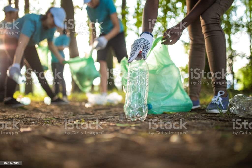 Environmental Volunteers stock photo