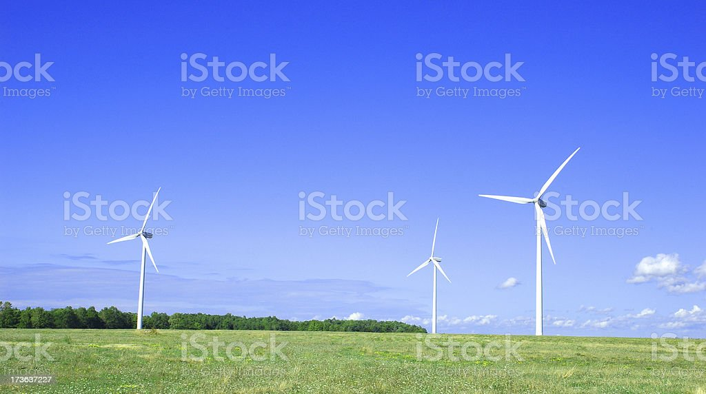 Environmental Wind  Generated Power stock photo