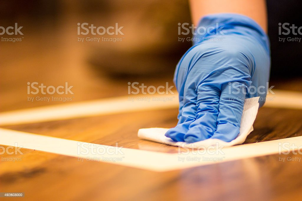 Environmental Wipe Sampling stock photo