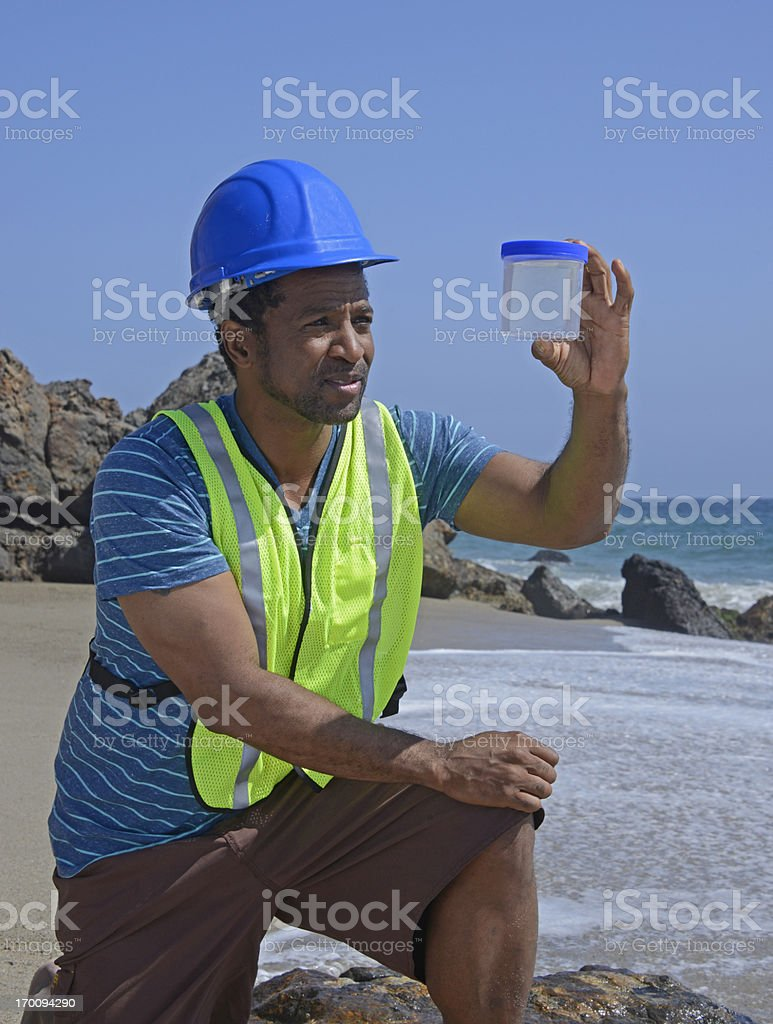 Environmental Worker stock photo