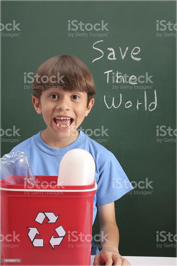 Environmentalist Schoolboy royalty-free stock photo
