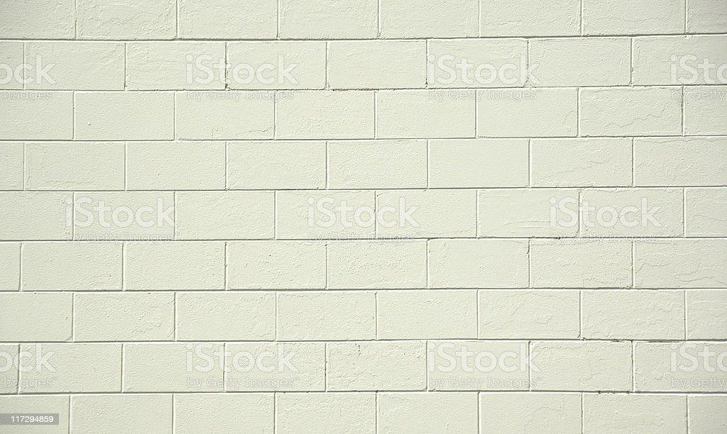 Environmentally degraded blank cement block wall. stock photo