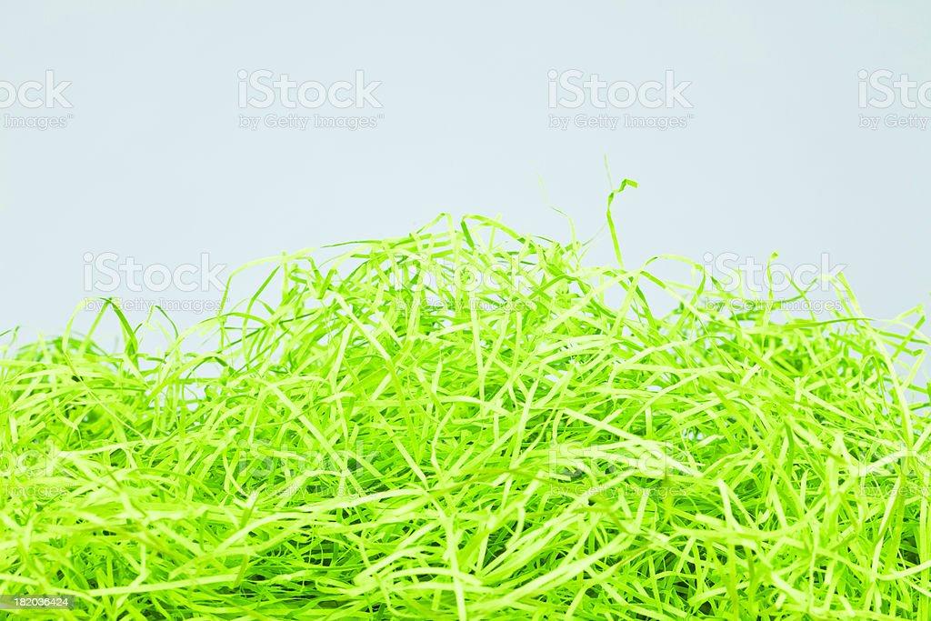 Environmentally Friendly Easter Grass stock photo