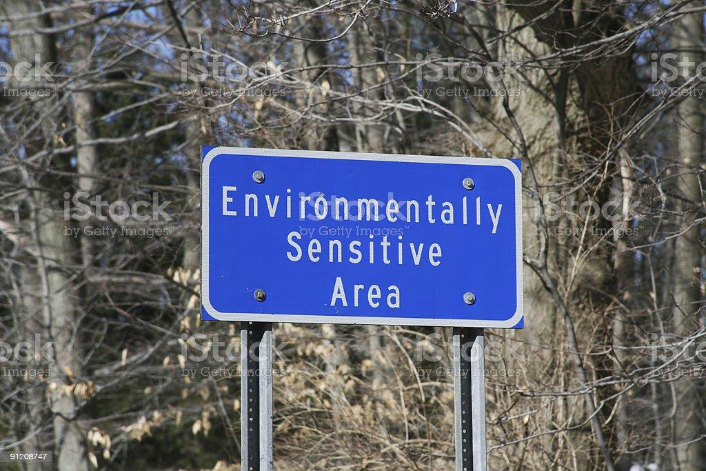 Environmentally Sensitive Area Sign stock photo