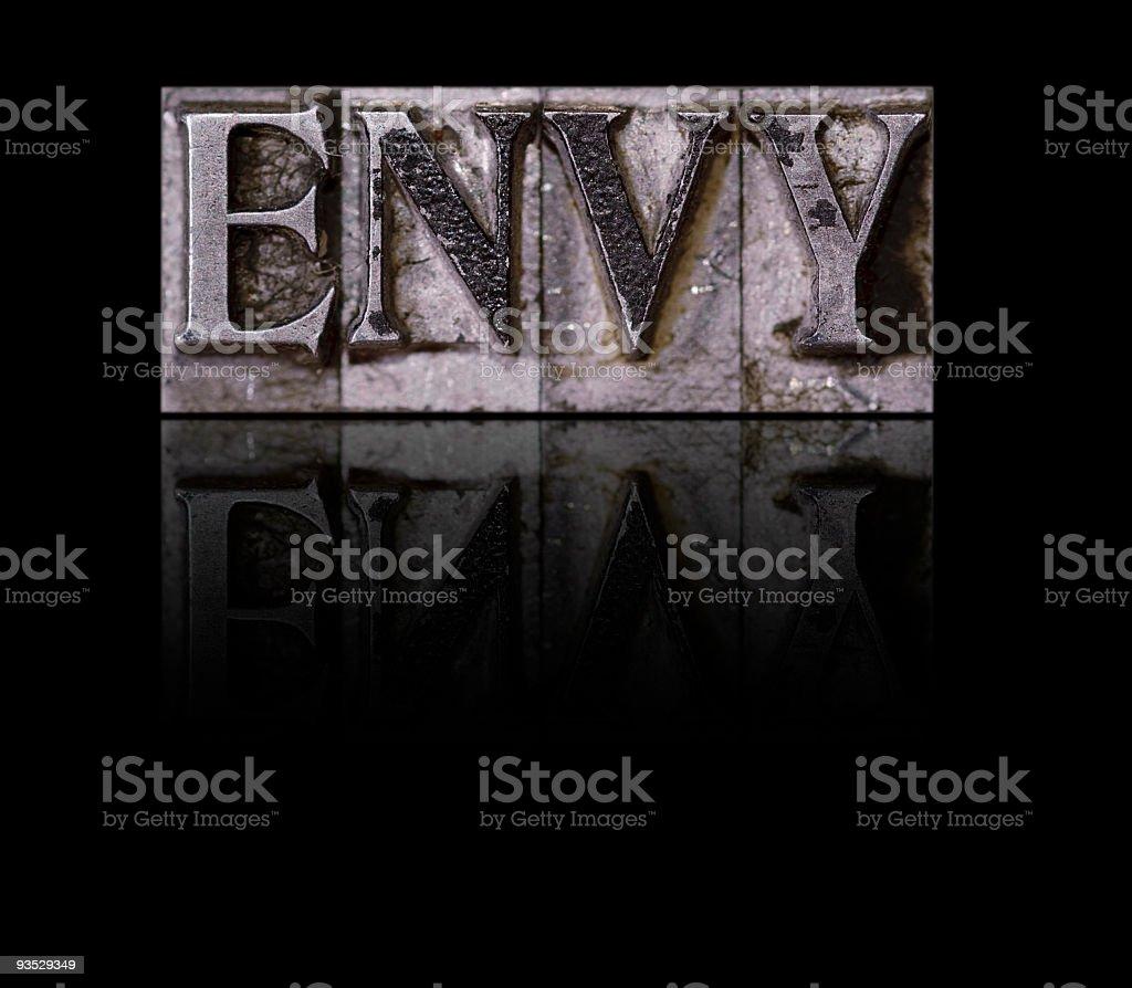Envy, a Deadly Sin stock photo