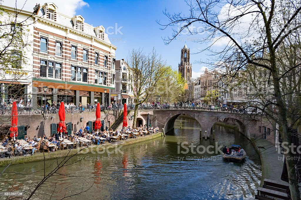 Enyoing Utrecht, The Netherlands stock photo