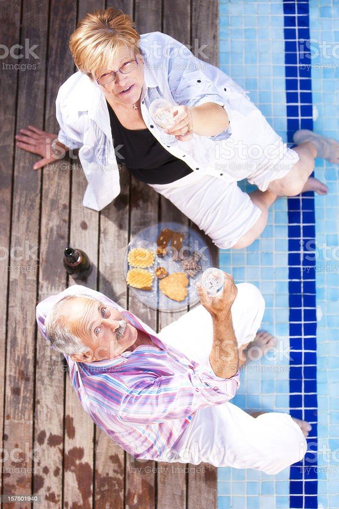 Enyoying the retirement royalty-free stock photo