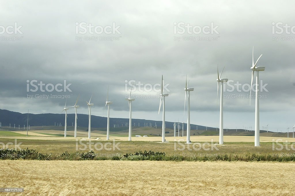eolic power with storm royalty-free stock photo