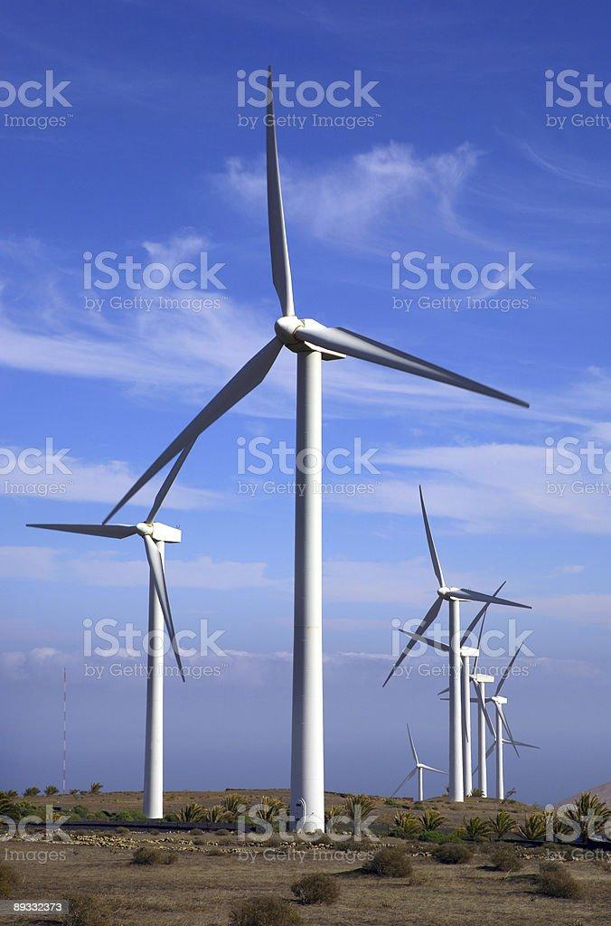 Eolic - wind turbine royalty-free stock photo