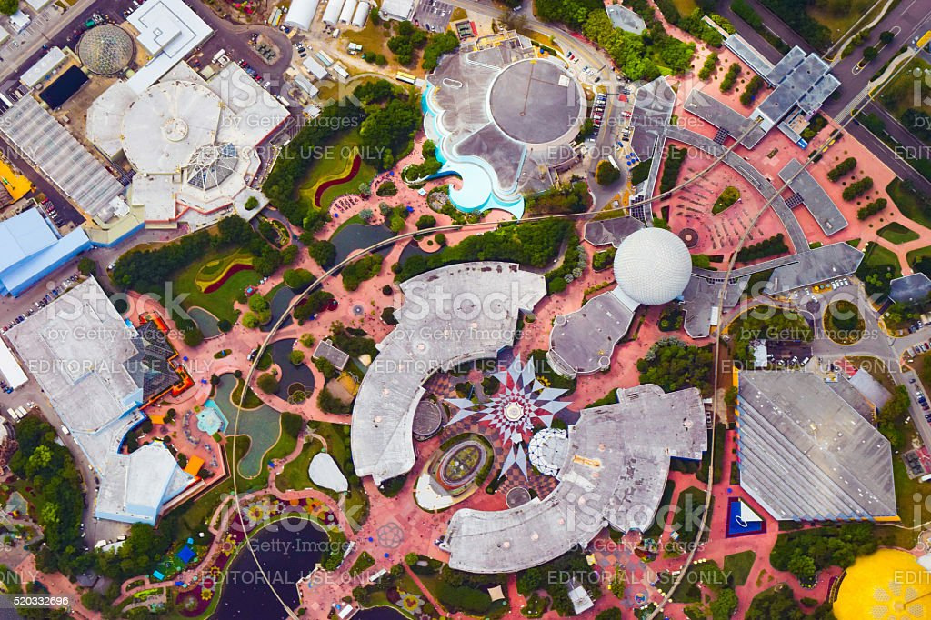 Epcot Center - Aerial View stock photo